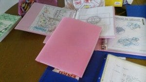 Of course we used a pink folder!