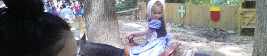Su loved the pony ride and went twice
