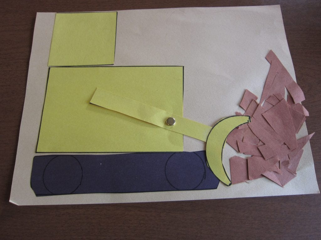 Paper Bulldozer craft