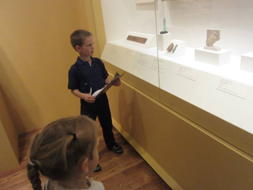Looking for animals in the Egyptian gallery