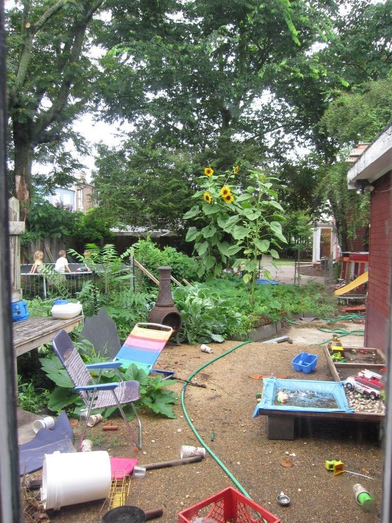 The trampoline next door