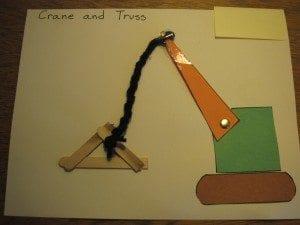Crane and truss