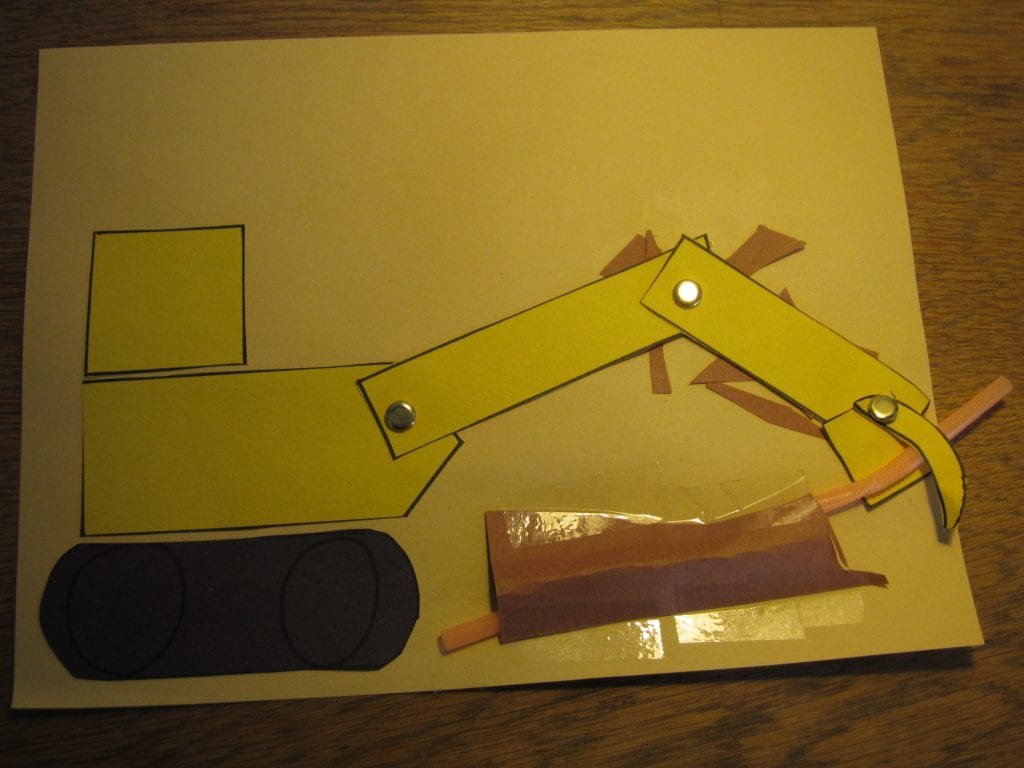 Backhoe and pipe project