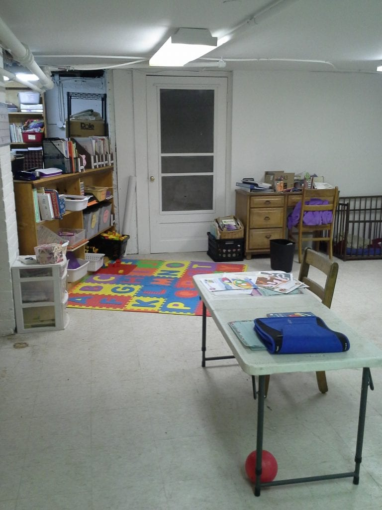 Basement schoolroom
