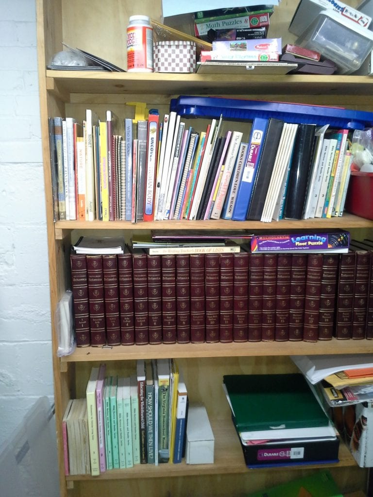 "My ""library""! Teacher's manuals, reference and encouragement all together in one place."