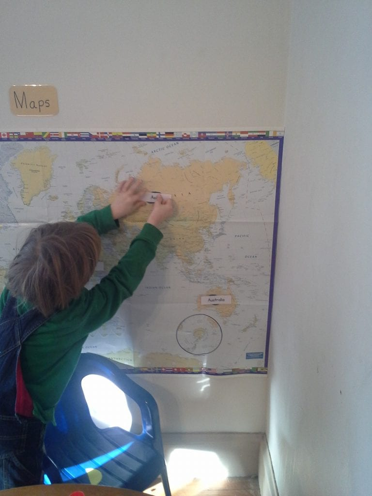 Matching Continent Cards To The World Map