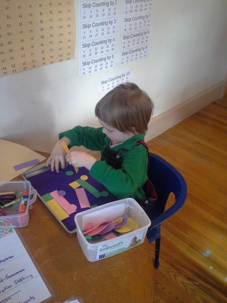 Preschool Work Tray With Trucks