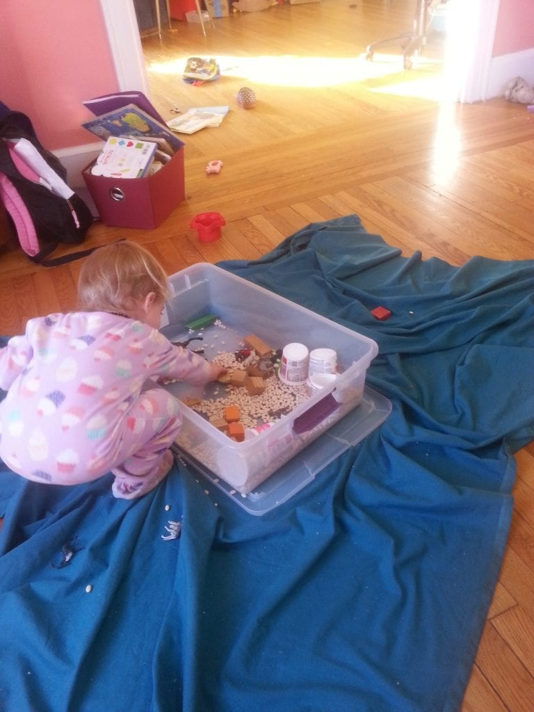 Better use of the sensory bin.